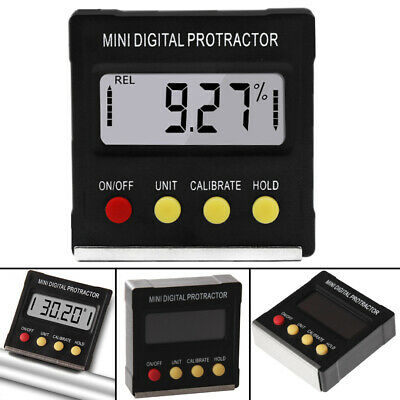 Digital Lcd Protractor Gauge Level Box Angle Finder Inclinometer Magnet Meter C