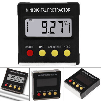 Cube Inclinometer Angle Gauge Meter Lcd Digital Protractor Electronic Level C