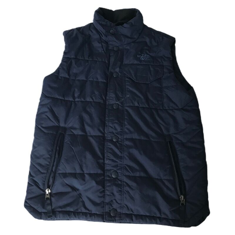 The North Face Down Puffer Vest Boy's Size Medium  10/12 Navy Blue