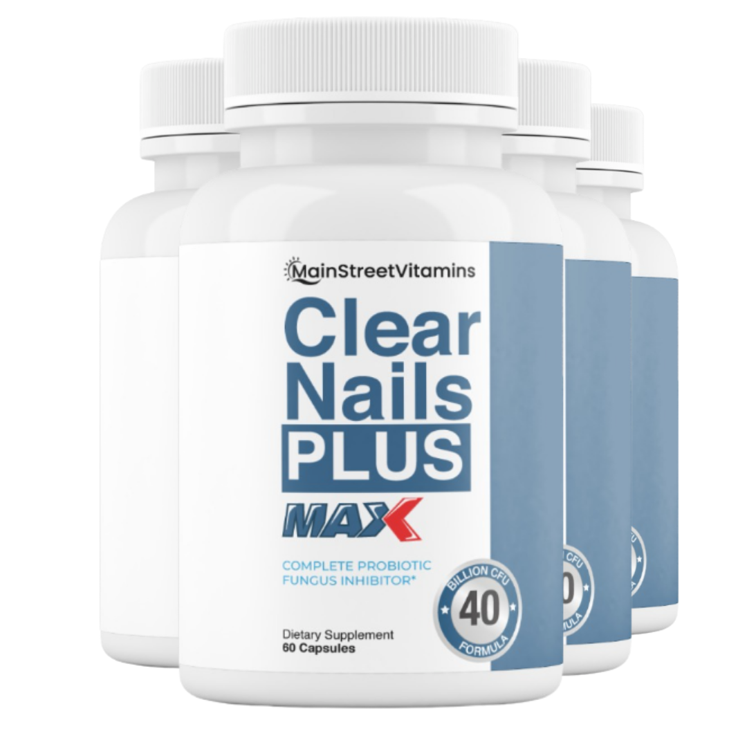 4 Clear Nails Plus Max 40 Billion CFU -  60 Capsules  -240 Capsules - 4 Bottles