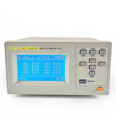 8 Channels Thermocouple Temperature Tester Meter -100 To 1000c Accuracy 0.5 Usb