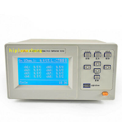 16 Channels Thermocouple Temperature Tester Meter -100c-1000c Accuracy 0.5 Usb