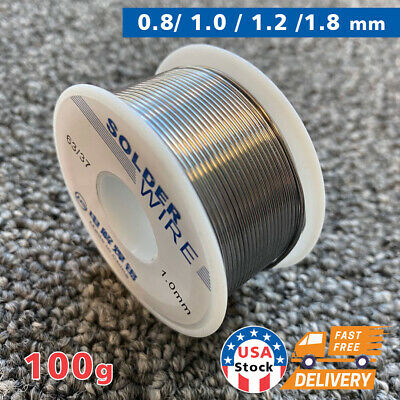 6337 0.8mm Tin Lead Rosin Core Solder Flux Soldering Welding Iron Wire Reel Us