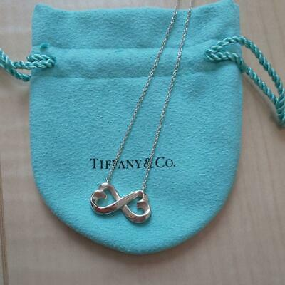 Tiffany & Co. Double Loving Heart Necklace Pendant Silver Accessory