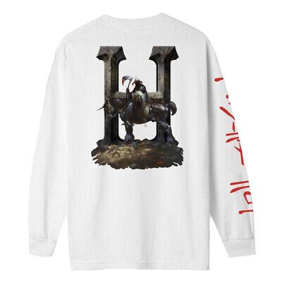 """HUF x Frazetta """"Death Dealer"""" Long Sleeve Tee (Black) Men's Graphic T-Shirt"""
