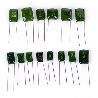 140pcs 14values Polyester Film Capacitor Electrolytic Assortment Kit 630v