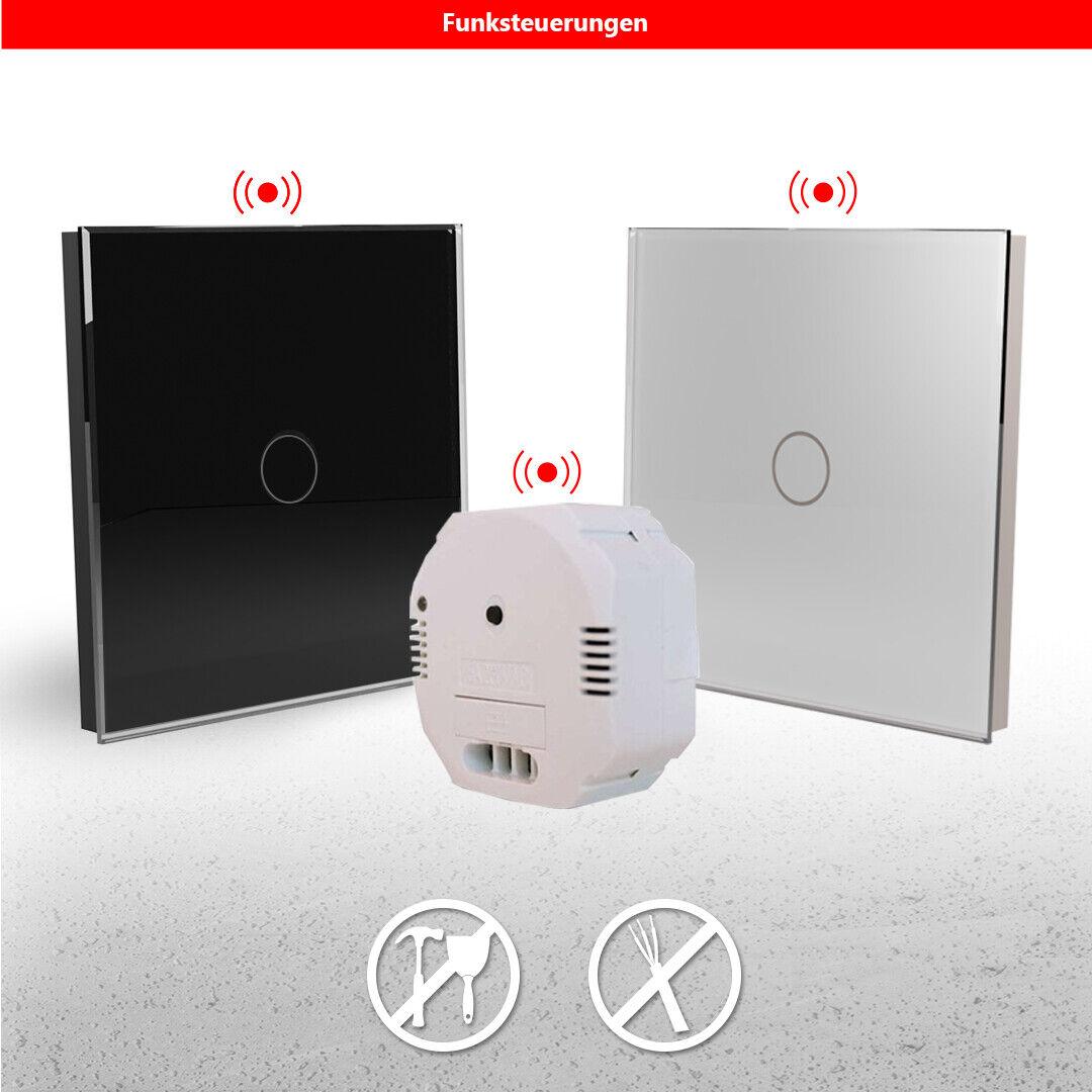 SmartHome Funk Steuerung Funkschalter Kabellos Lichtschalter Touch Wandschalter