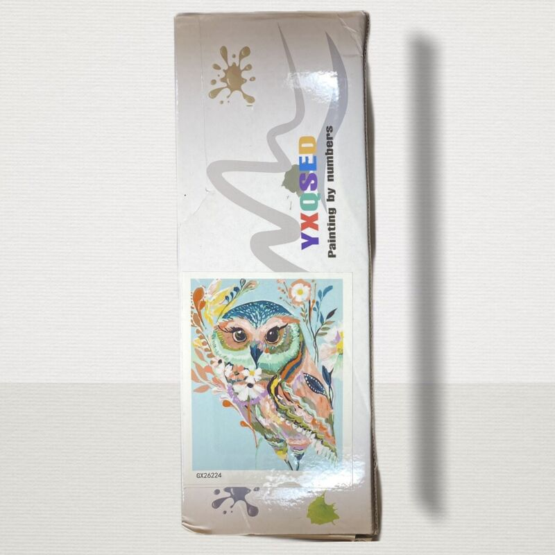YXQSED Frameless Acrylic Paint By Number Owl Kit 16 X 20 Ages 6+ DIY Wall Art