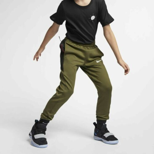 Nike Dri-Fit Therma Flex Showtime Basketball Pants Youth Olive Green 939546 395