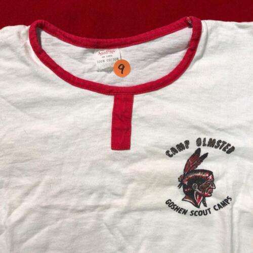BSA CAMP OLMSTED CHIEF CORNPLANTER COUNCIL X-LARGE VINTAGE INDIAN T-SHIRT #9