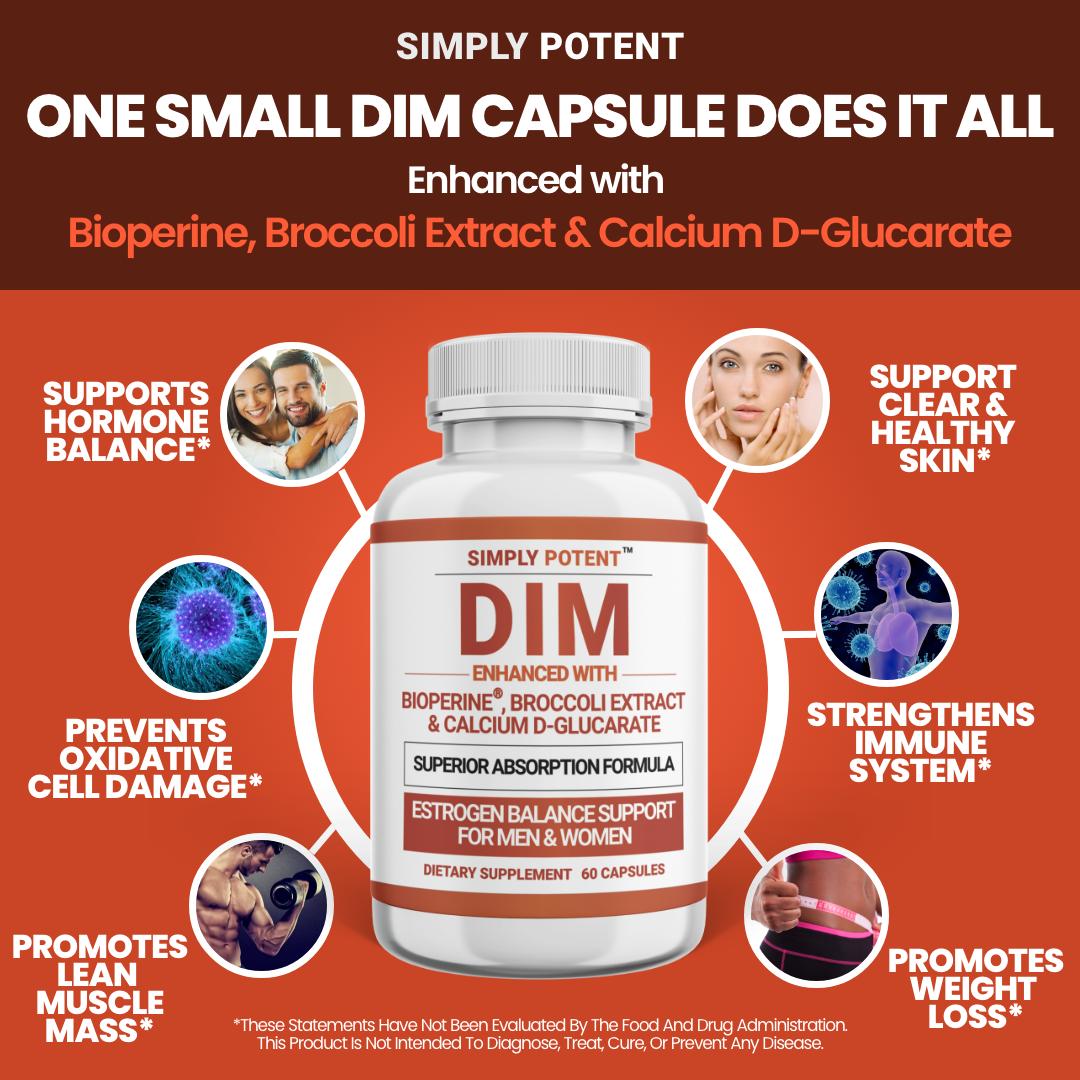 DIM Supplement 150mg + BioPerine for Menopause Relief Hot Flashes Estrogen Pills 4