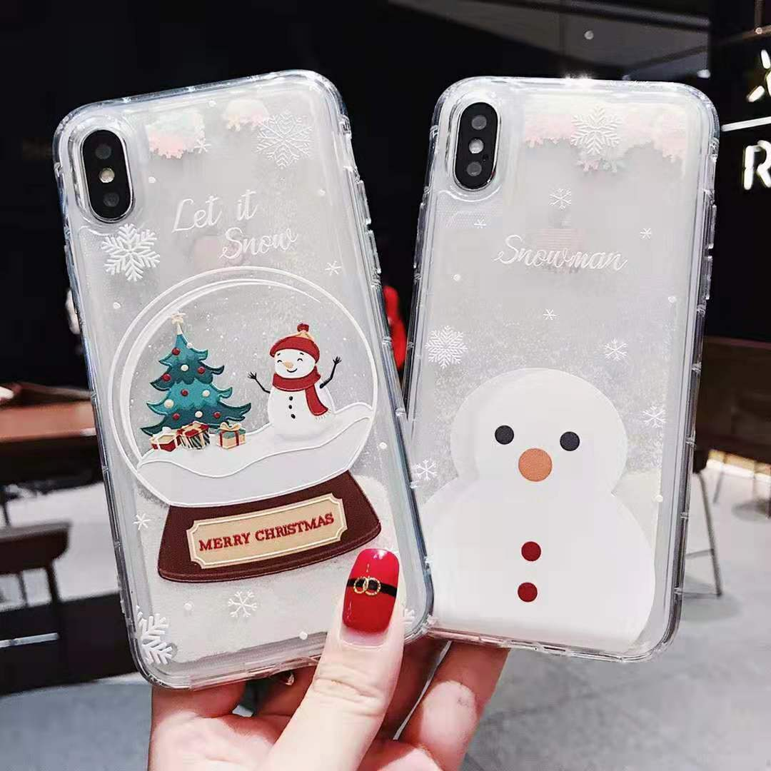 Merry Christmas Santa Claus Holiday Clear Case iPhone 11 Pro Max iPhone X Xs XR Cases, Covers & Skins