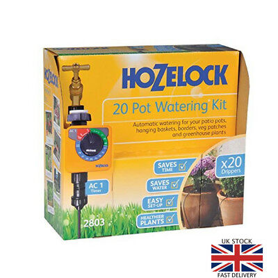 Hozelock 20 Pot Automatic  Watering Kit With AC1 Timer Garden Outdoor Plants