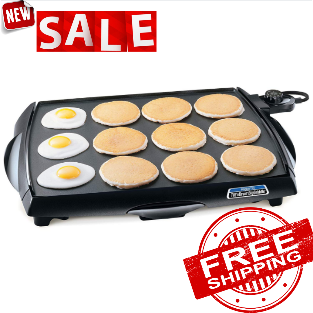 PRESTO 07046 TiltnDrain Big Griddle Electric Griddle
