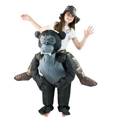 Bodysocks® Aufblasbares Gorilla Kostüm Für Kinder - zoo safari tier Affe Reiten ()