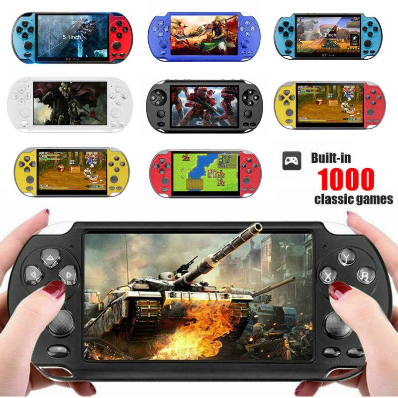 X9/X7 Plus 5.1''8GB Handheld Spielekonsole Retro Player Spiele Konsolen Video DE