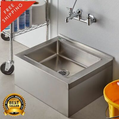 25 Stainless Steel Nsf One Compartment Floor Mop Sink Bowl 20 X 16 X 6