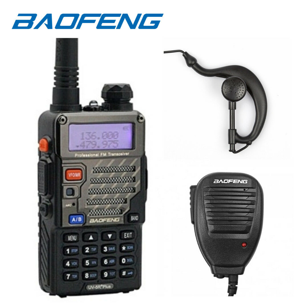 Baofeng *UV-5R+ PLUS* V/UHF 2m/70cm Band Ham Two-way Radio +