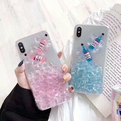 Fashion 3D Ice Cocktail Bottle UNBreak Phone Case Cover For Apple iPhone 6-X Max Case Cover Ice