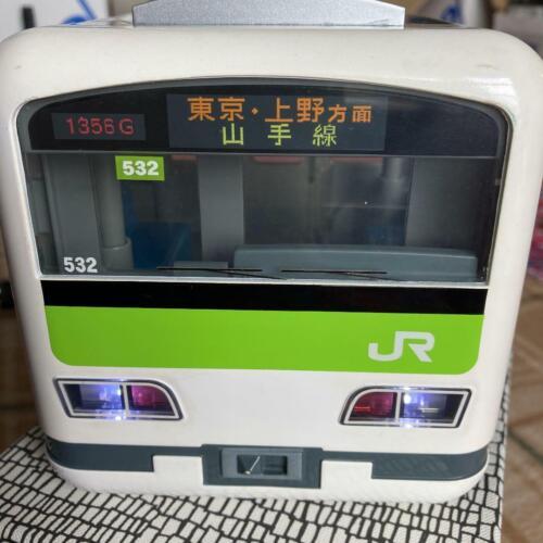 Yamanote Line Train Piggy Bank Targa Savings Box toy Green Railway Working