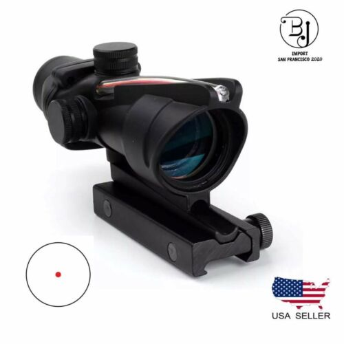 Tactical 1x32 ACOG Red Dot Scope Sight Airsoft Riflescope Hunting US Fast ship