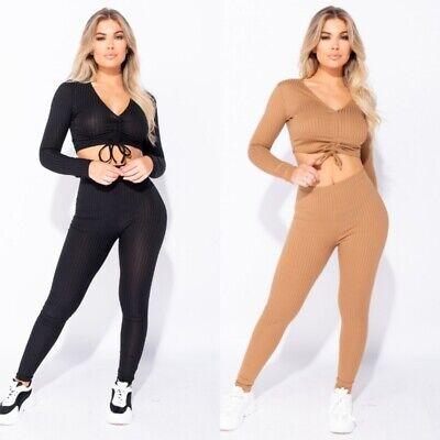 Women Crop Top Long Pants Set Two Piece Outfits Casual Jumpsuit Playsuit Romper Long Romper Set