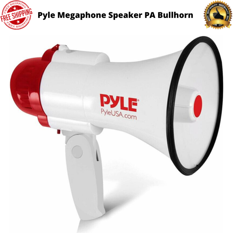 Pyle Megaphone Speaker PA Bullhorn with Built-in Siren 30 Wa
