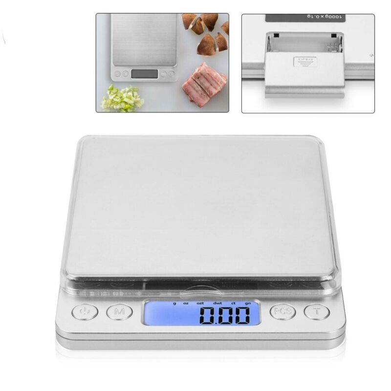 3kg/0.1g Digital LCD Electronic Kitchen Scale Baking Cook Fo