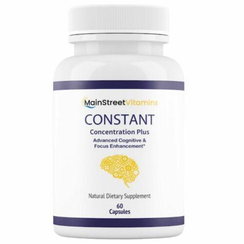 Constant Concentration Plus, Advanced IQ Brain Supplement 60 Capsules