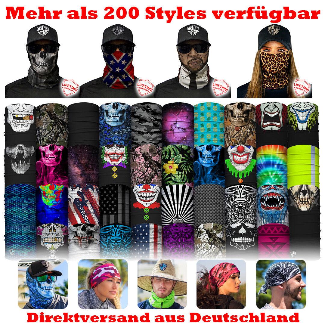SA COMPANY FACE SHIELD 240 Styles Schal Maske Bandana Tube Halstuch BLITZVERSAND
