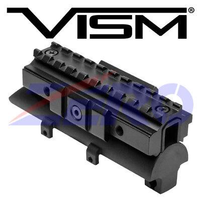 VISM SKS Rifle Tri-Rail Receiver Cover Scope Optic Weaver Picatinny Mount 4.8