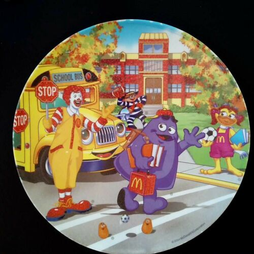 Mcdonalds 2004 Back to School Plate