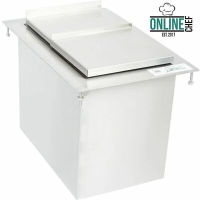 18 X 12 Stainless Steel Nsf Foam Insulated Silver Drop-in Ice Cube Bin Resto