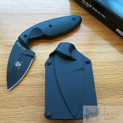 KABAR TDI Law Enforcement Knife AUS8A Stainless Steel Blade Black Zytel Handle