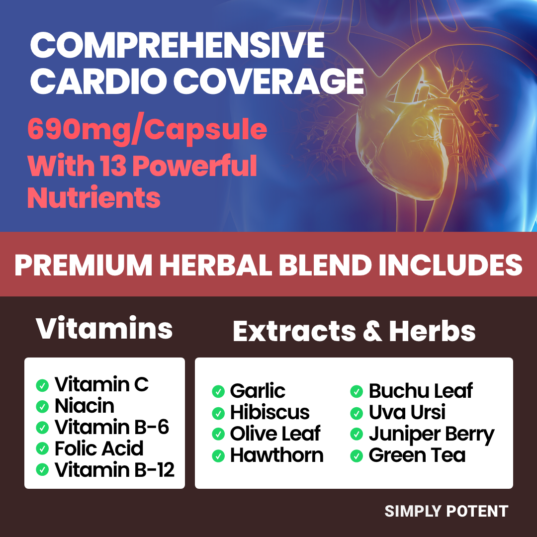 Blood Pressure Support Supplement w Hawthorn Garlic, Hibiscus for Healthy Heart 4