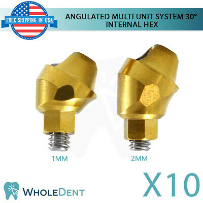 10x Angulated Abutment Multi Unit System 30 Titanium Dental Implant Int Hex