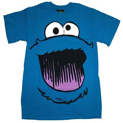 Official Sesame Street Cookie Monster Smile Face T-shirt - Elmo Ernie Oscar Tee - Elmo Face T-shirt