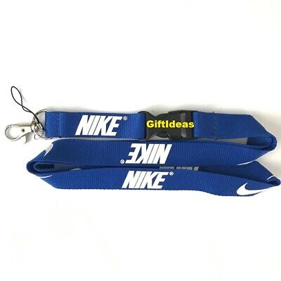 Nike Lanyard Detachable Keychain iPod Camera Strap Badge ID Blue