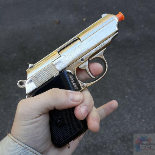 Denix 31 Walther PPK Pistol Replica Non-Firing Removable Magazine Nickel Finish