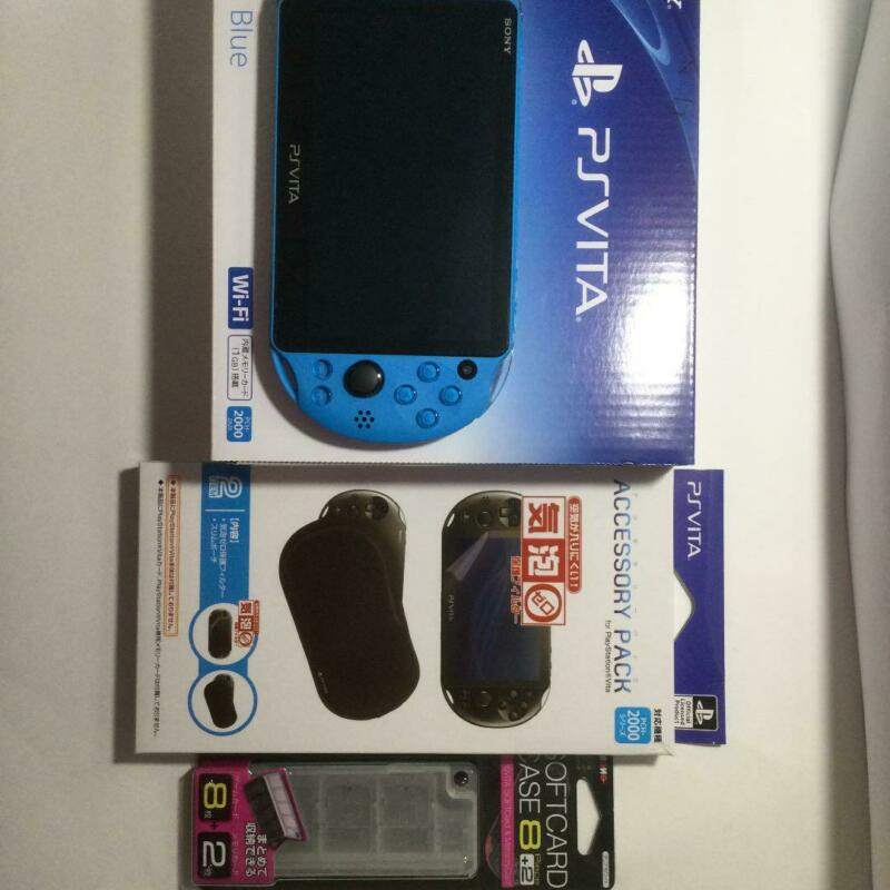 %5BOpen+Box%5D+SONY+PS+Vita+PCH-2000+ZA23+Aqua+Blue+Console+Wi-Fi+model+from+JAPAN+