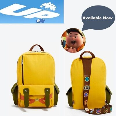 Pixar Up Merchandise (Disney Pixar UP Russell Yellow Backpack. Authentic)