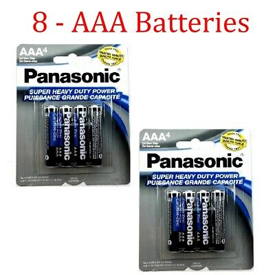 8 Wholesale Panasonic AAA Triple A Batteries heavy Duty Battery 1.5v Bulk lot for sale  Long Beach