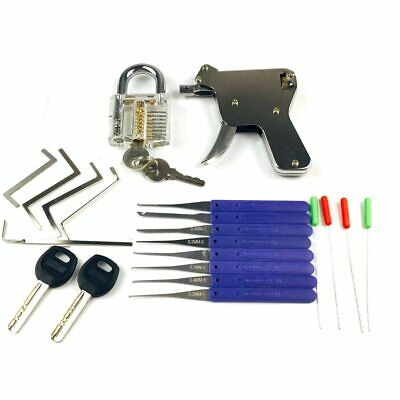 Naierdi 3 In 1 Set Locksmith Tools Practice Transparent Lock Kit With Broken