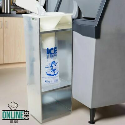 Commercial Ice Bagger 810 20 Lb Bag Stainless Steel Bin Bagging Machine Nsf