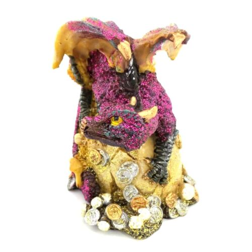 Purple Baby Dragon Hatching Out of Egg Statue Dragon Hatchling Figurine 2