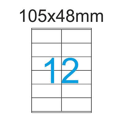 480 Etiketten 105x48 mm Luma Adressaufkleber105 x 48 Klebeetiketten Weiss 40 A4