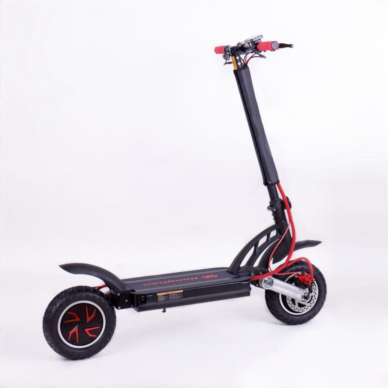 Tomini 2400w/48v Two Wheel 10in. Folding Off Road Electric Scooter Fast 31mph