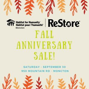 Habitat for humanity ReStore Anniversary Sale
