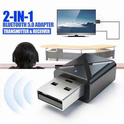 USB Bluetooth 5.0 Receiver Audio Transmitter Adapter For TV/PC Headphone Speaker
