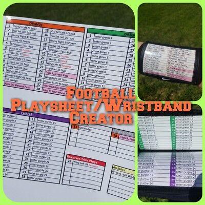 image regarding Printable Wristband Sheets identified as Soccer Teach Playsheet / Wristband Writer (WristCoach